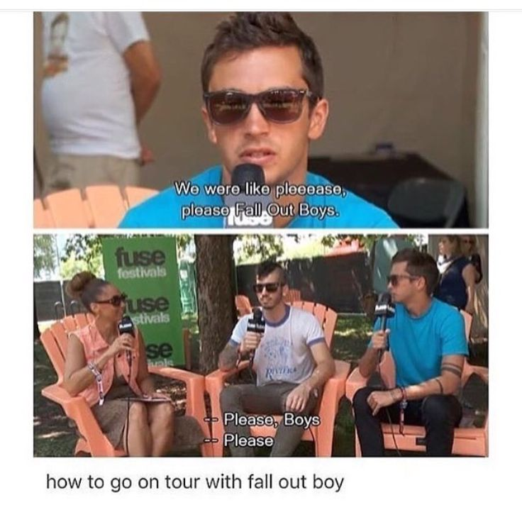 SAVE ROCK AND ROLL TOUR I LOVE THAT PANIC! TØP AND FOB WERE TOURING TOGETHER