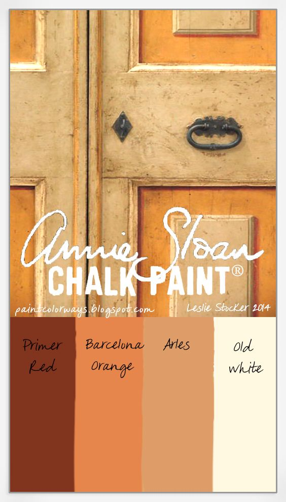 Reproduction doors from antiqueitaliandoors.com  inspire a color scheme with Annie Sloan Chalk Paint®.
