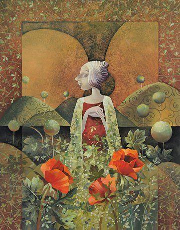 Aurika Piliponiene Angel with Poppies