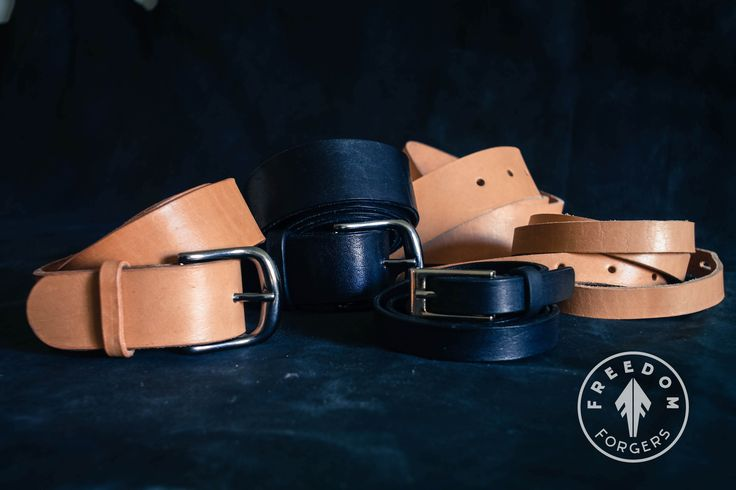 Handmade Veg-Tanned Leather Belts
