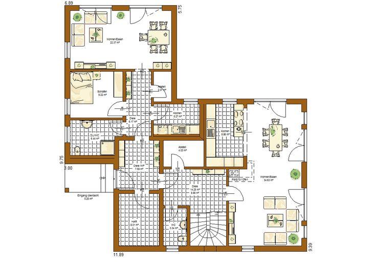 Savona Grundriss Erdgeschoss Einfamilienhaus mit