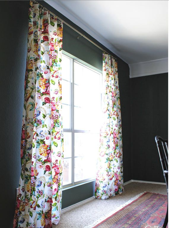 Curated for your home in todays top home fashions. Our clients love when we re-create this look for them. A large scale floral pattern in cotton with a beautiful drape! Contents 100% Cotton Horizontal Repeat 27.5 Vertical Repeat 26.5  Curtain panels are flat top ready for clip ring