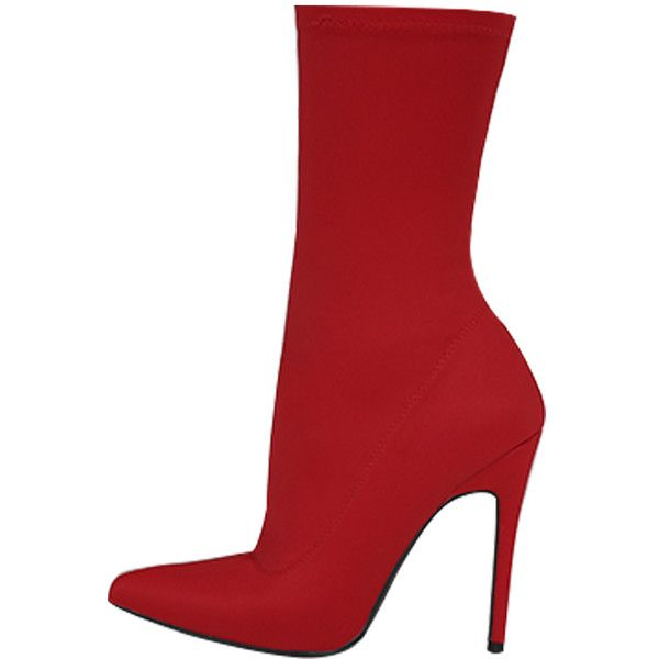Red Stiletto Heel Boots ($56) ❤ liked on Polyvore featuring shoes, boots, stiletto high heel boots, red stiletto shoes, stiletto boots, red stiletto boots and red stilettos