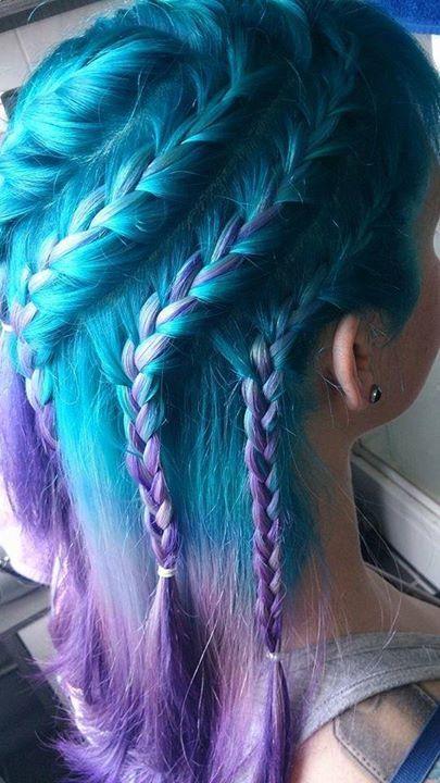 aqua and purple hair color aquamarine arctic fox