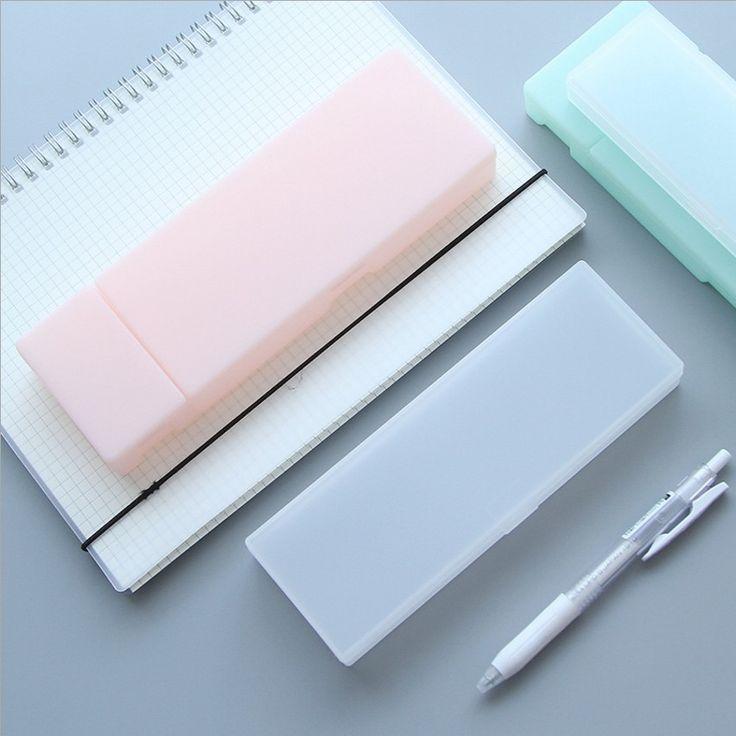 $1.41 (Buy here: https://alitems.com/g/1e8d114494ebda23ff8b16525dc3e8/?i=5&ulp=https%3A%2F%2Fwww.aliexpress.com%2Fitem%2FSolid-Color-PP-Matte-Pencil-Case-Pen-box-storage-School-Office-Supplies-1844%2F32774072574.html ) Solid Color Transparent PP Plastic Pencil Case Pen box storage stationary School & Office Supplies 1844 for just $1.41