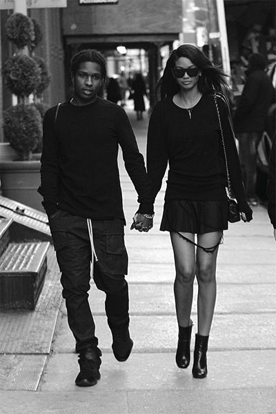 forthosewhocravefashion:  ASAP Rocky and Chanel Iman