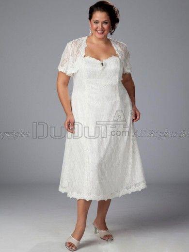Plus Size Wedding Dresses Tea Length Mother of the Bride – fashion ...