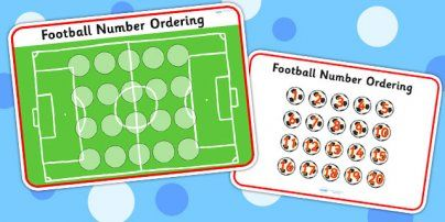 Preview: Football Number Ordering Activity
