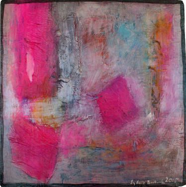 "Saatchi Art Artist Sylwia Borkowska; Painting, ""Pink abstract"" #art"