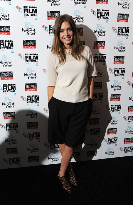 Adèle Exarchopoulos at the London Film Festival premiere of Blue is the Warmest Colour