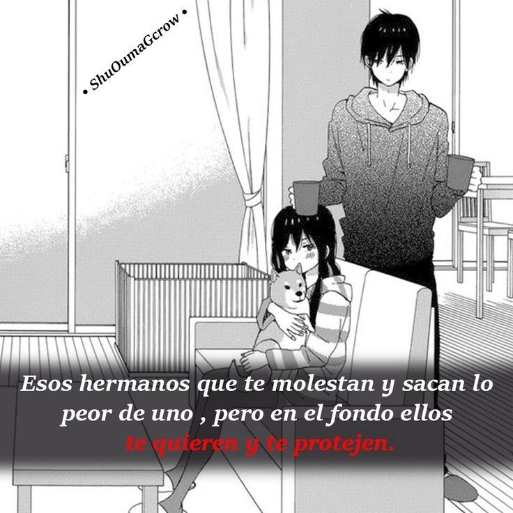 Por esos hermanos  #ShuOumaGcrow #Anime #Frases_anime #frases