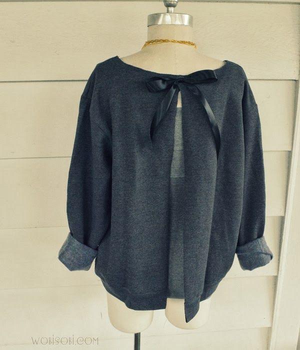 Sweatshirt Refashion knockoff – EASY!