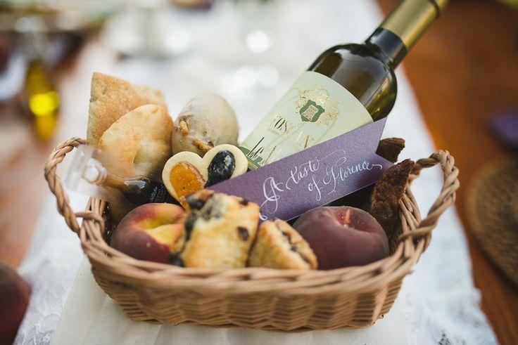 Florence, Italy wedding welcome basket of baked goods. Carter Nendick Weddings & Events. Photography: Modern Vintage Weddings - www.modernvintageweddings.com  Read More: http://www.stylemepretty.com/little-black-book-blog/2013/12/04/elegant-rustic-italian-inspiration-from-carter-nendick-weddings-events/