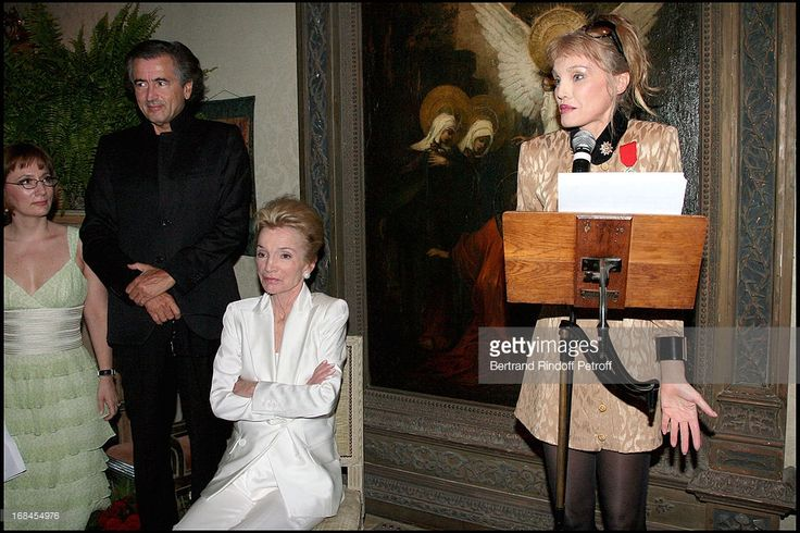 Lee Radziwill's daughter Tina, Bernard-Henri Levy, Princess Lee Radziwil at Princess Lee Radziwill Awarded Knight in the National Order of the Legion of Honor.