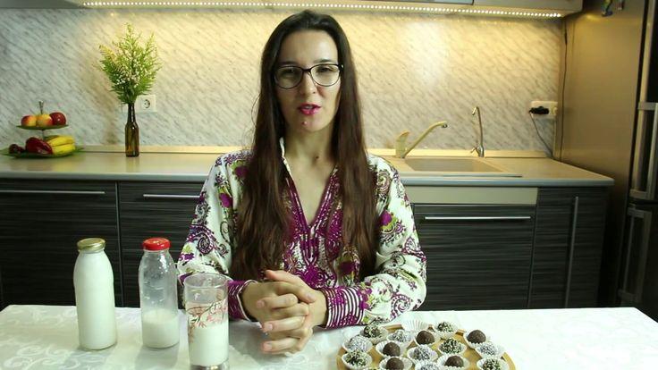 Lapte de migdale + Bomboane din pulpa rămasă = 2 rețete delicioase raw-v...