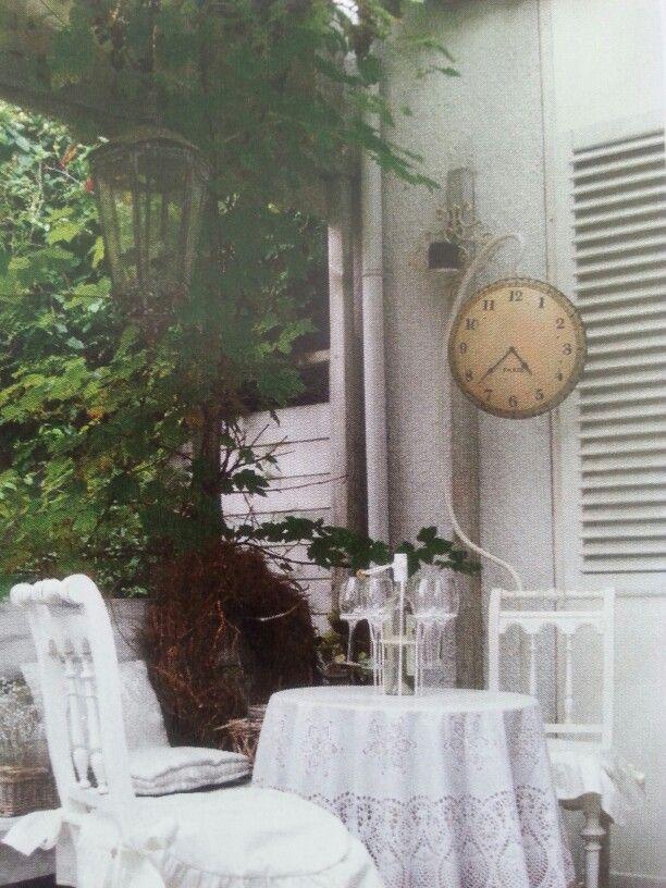 """Wonen landelijke stijl knusse """"wijn tijd hoek"""" in de tuin"""