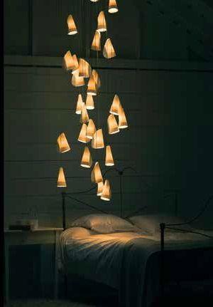 Lámparas de suspensión Bocci, en Euroluce.
