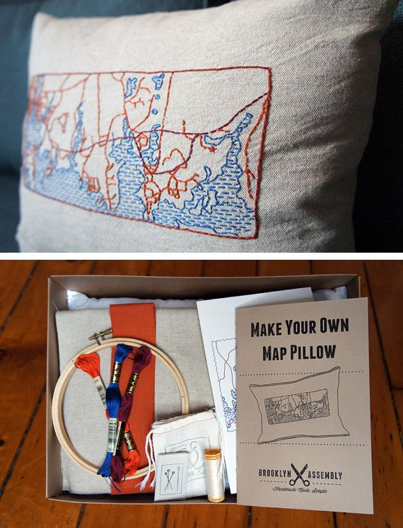 Custom map pillow kit in Gifts and favors for weddings brides and grooms guests and family & 215 best BUSINESS IDEA images on Pinterest | DIY Circus food and ... pillowsntoast.com