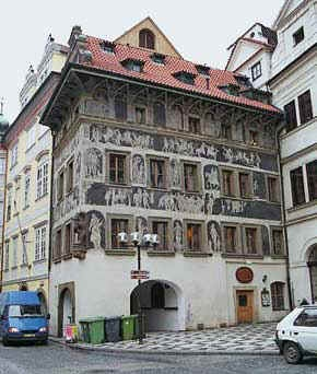 House in Prague that Kafka lived in