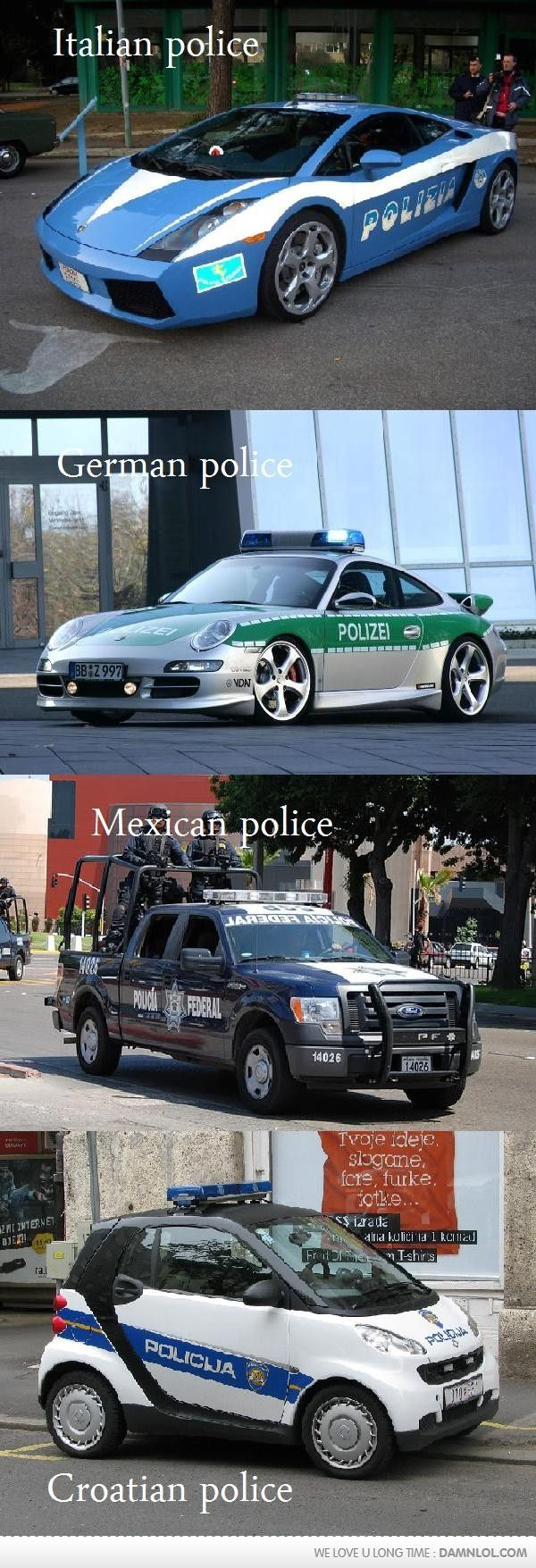 Police. this is why America still has lots of criminals, and everywhere else doesn't.