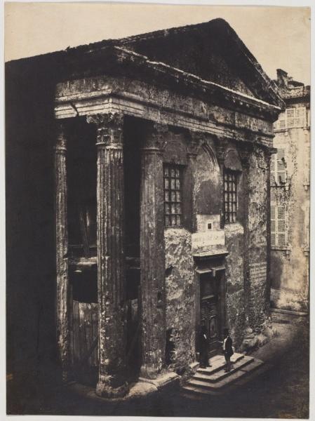 Temple of Augustus and Livia, 1851, Edouard Baldus (Cleveland Museum of Art)