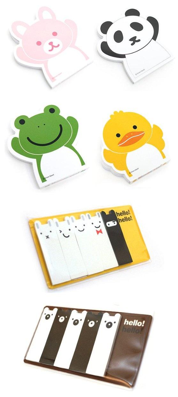 今はいろいろ可愛い付箋があるんですねー!:Cute adhesive memo notes