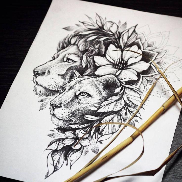 by @olga_kirikilica #sketchtattoo #tattoo #tattooart #tattoodesign – Justyna Wiśniewska