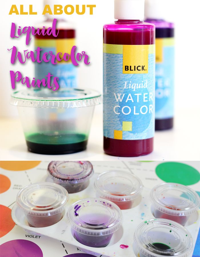 All about liquid watercolor paints and why they make the best paints for kids