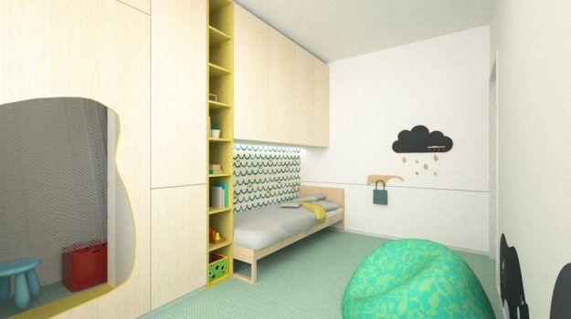 Návrh interiéru detskej izby - Banšelova, Bratislava - Interiérový dizajn / Children´s room interior by Archilab