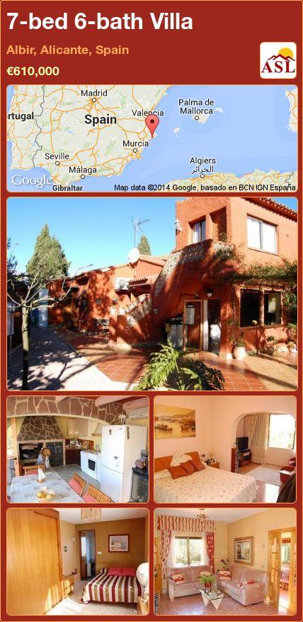 7-bed 6-bath Villa in Albir, Alicante, Spain ►€610,000 #PropertyForSaleInSpain