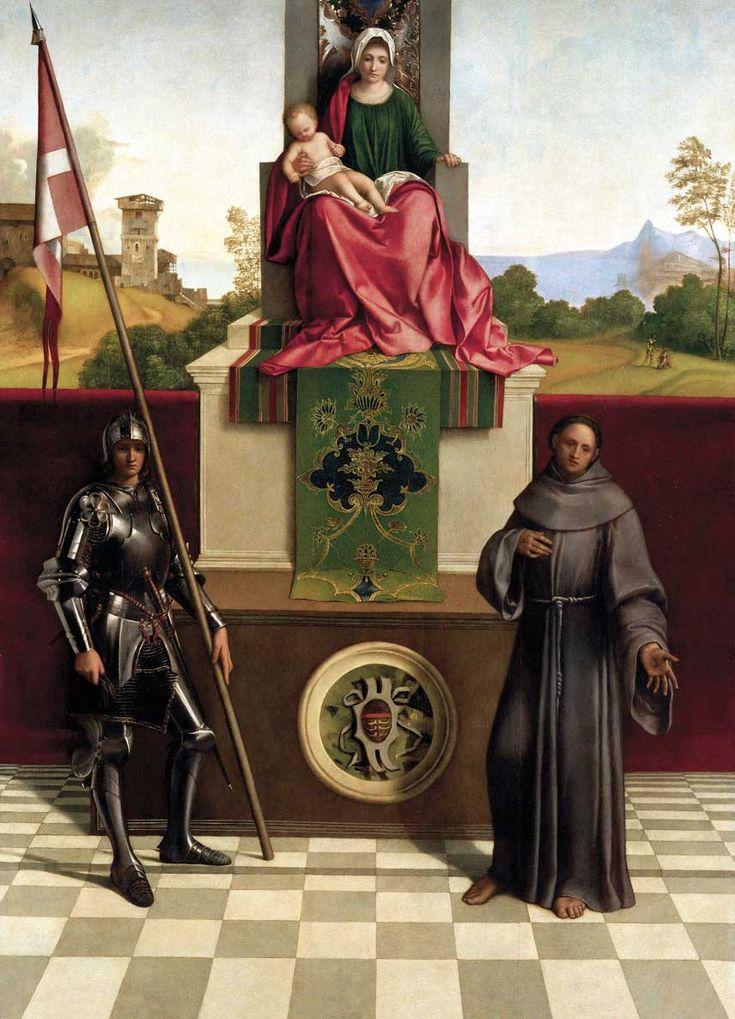 La Pala di Castelfranco, tempera su tavola (200x152 cm) di Giorgione