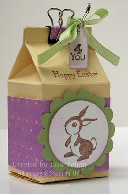 Easter Box made with Milk Carton die