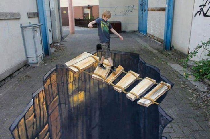 En Dikkat Çeken 3 Boyutlu Sokak Sanatı Çalışmaları