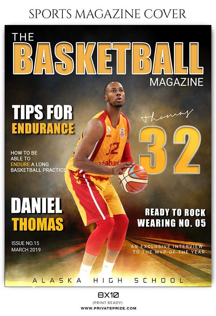 magazine basketball sports templates template photoshop privateprize photographers football credit