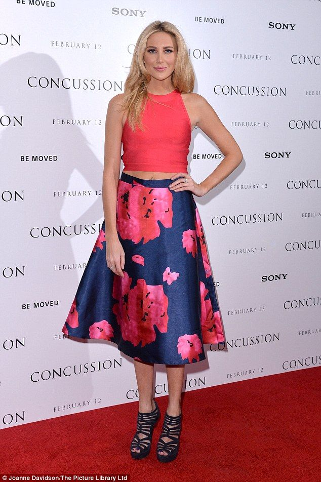Hello petal! Stephanie Pratt lived up to her fashionable reputation at the Concussion film...