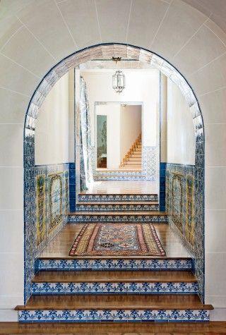 Exotic Staircase/Hallway by JP Molyneux Studio Ltd. in Pebble Beach, CA