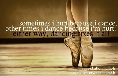 dance, girl, hurt, quote, dance quotes