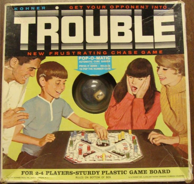 KOHNER: 1965 Trouble Game #Vintage #Games