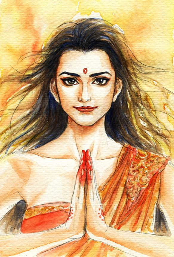 Fanart of Draupadi ,Mahabharat,by Snowcandy.CC:BY-NC-ND