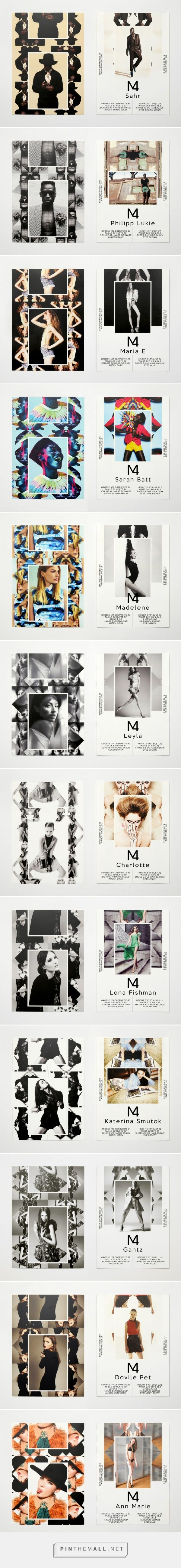 M4 Models SedCards Summer 2012 | Eps51 graphic design studio