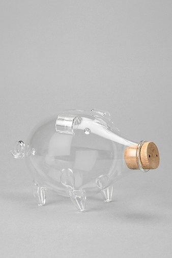 Blown Glass Piggy Bank