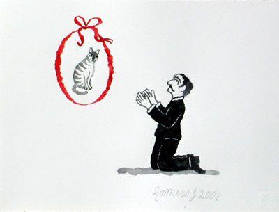 Insomnio XI, 2007, gouache/papel, 21x28 cm.