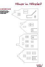 Häuser im Holzscheit