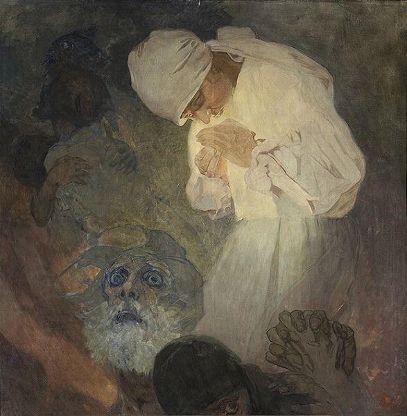La Lumiere De L Esperance 1933 Alphonse Mucha Czech 1860 1939 Alphonse Mucha Painting Mucha Art