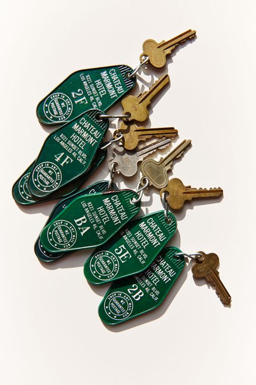 condenasttraveler:  The Story Behind These Vintage Keys from L.A.'s Chateau Marmont Hotel is Pretty Incredible