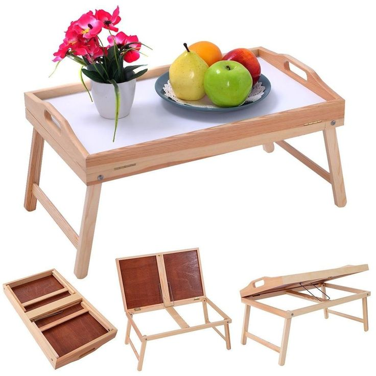 Folding TV Tray Table Stand Dinner Coffee Kitchen Wood Furniture Snack Tea New #FoldingTVTrayTable