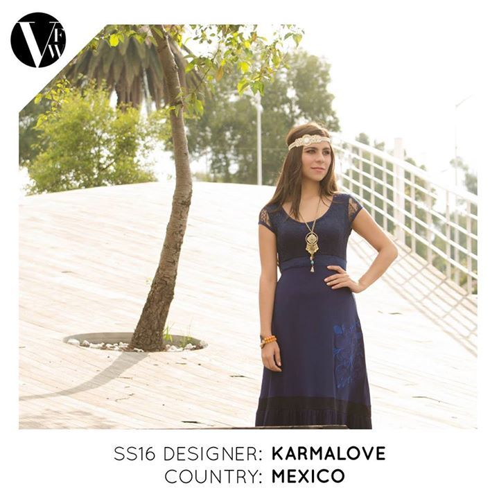 KarmaLove is a semi-artisanal Mexican brand created by Monica Ruiz Pedroarena and Rosario Ruiz Pedroarena. Since its origins it is created with a very own distinctive mark. Its style recreates an innovative proposal that fuses myriad patterns with a variety of textures and colours and embroidery.  See the designers' profile here: http://vanfashionweek.com/karma-love/