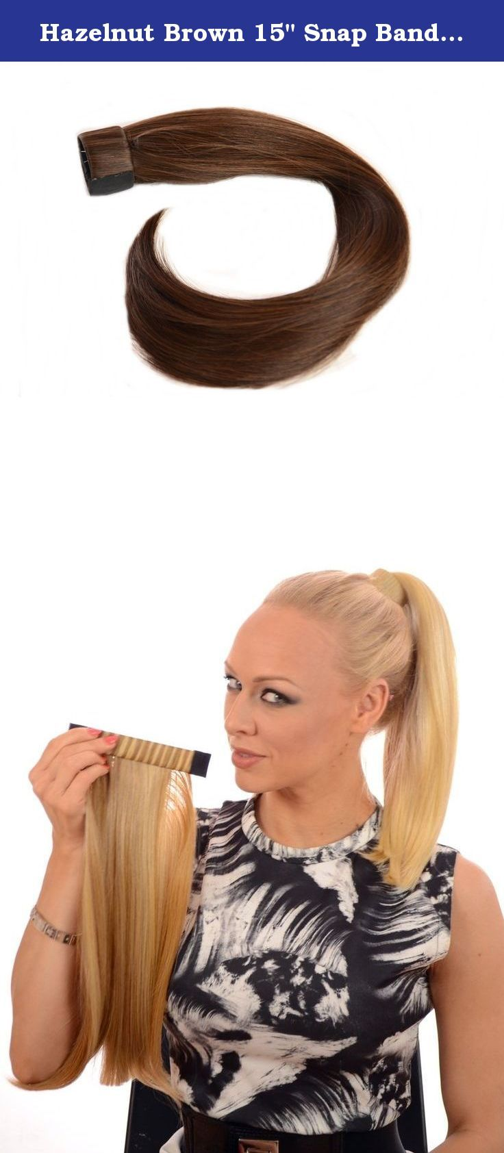 """Hazelnut Brown 15"""" Snap Band Ponytail 