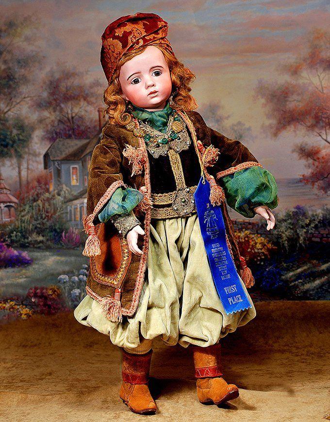 """poupée A. Marque Vendue aux enchères «Doll enchères de Frasher"""", DOLL ENCHÈRES """"MEET A. MARQUE NO. 2"""" Vendu pour $ 52,000."""