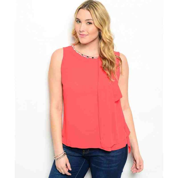 TOMATO WITH STONES PLUS SIZE TOP SALE: $21.60 http://www.curvyclothing.com.au/index.php?route=product/product&path=59_61&product_id=8652